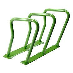 Steel Six Bike Rack Green Finish