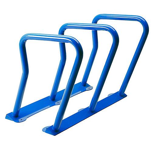 Steel Six Bike Rack Blue Finish
