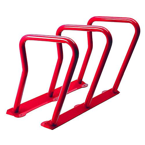 Steel Six Bike Rack Red Finish