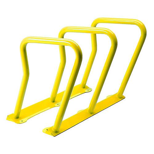 Steel Six Bike Rack Yellow Finish