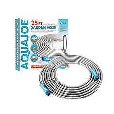 Heavy-Duty 25 ft. Spiral Constructed Stainless Steel Garden Hose