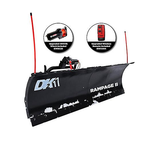Ensemble de chasse-neige personnel Rampage II 82 po x 19 po - montage personnalisé