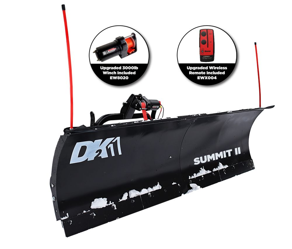 DK2 DK2 Summit II 88 inch x 26 inch Personal Snow Plow Kit - Custom Mount