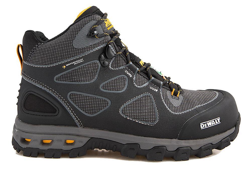 Lithium Mid Men Size 13(M) Black/Yellow Aluminum Toe/ Composite Plate Waterproof Athletic Work Boot