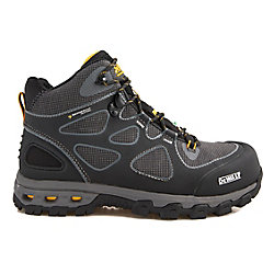 DEWALT Industrial Footwear Lithium Mid Men Size 13(M) Black/Yellow Aluminum Toe/ Composite Plate Waterproof Athletic Work Boot