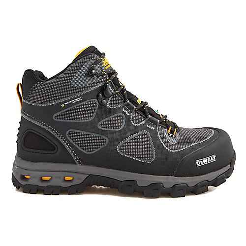 Lithium Mid Men Size 9(M) Black/Yellow Aluminum Toe/ Composite Plate Waterproof Athletic Work Boot