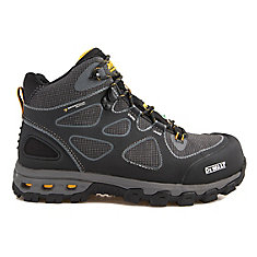 Lithium Mid Men Size 12(M) Black/Yellow Aluminum Toe/ Composite Plate Waterproof Athletic Work Boot