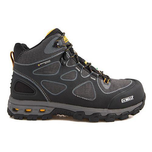 DEWALT Industrial Footwear Lithium Mid Men Size 8(M) Black/Yellow Aluminum Toe/ Composite Plate Waterproof Athletic Work Boot