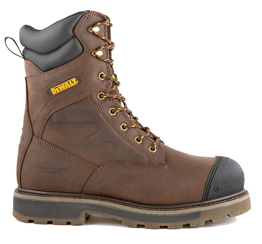 c4892fd0e5d Impact Men 8 in. Size 11(M) Dark Brown Leather Aluminum Toe/ Composite  Plate Work Boot