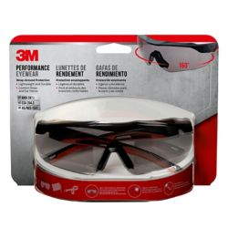 3M Performance Eyewear,  anti-fog, black/red, grey lens