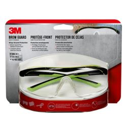 3M Brow Guard Eyewear,  black/green frame, clear lens