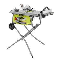RYOBI 10-inch 15 Amp Table Saw with Rolling Stand