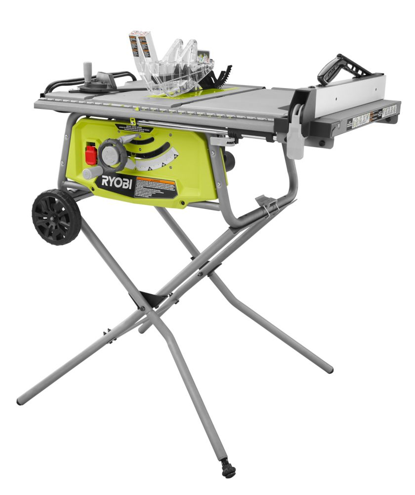 Table saws the home depot canada 10 inch table saw with rolling stand greentooth Images