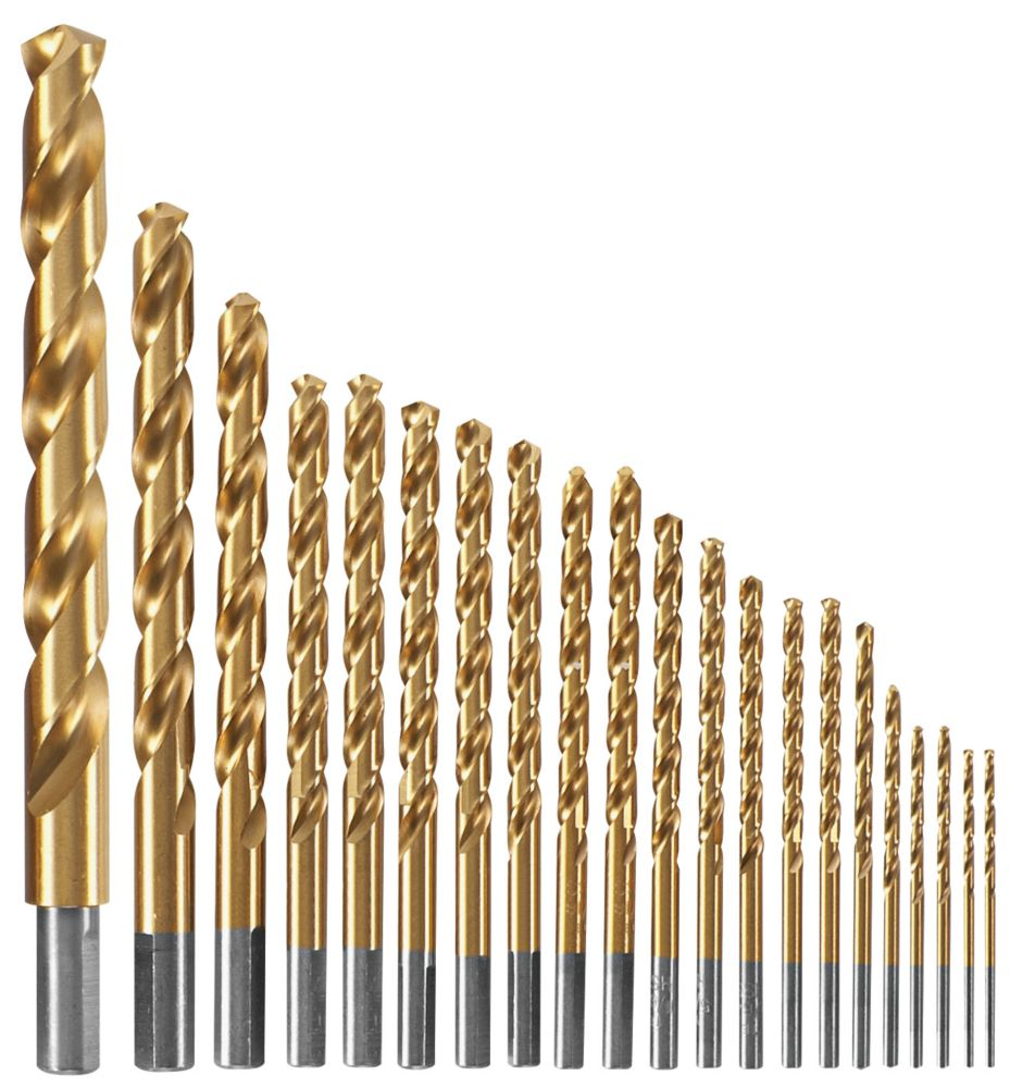 Bosch 21-piece Titanium-Coated Metal Drill Bit Set
