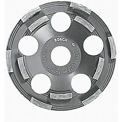 Bosch 5-inch Double Row Segmented Diamond Cup Wheel for Coating Removal