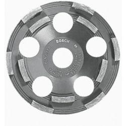 Bosch Meule boisseau diamantée à double rangée de segments de 5po pour éliminer les revêtements