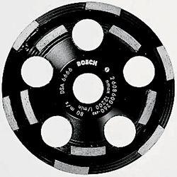 Bosch 5-inch Double Row Segmented Diamond Cup Wheel for Abrasive Materials