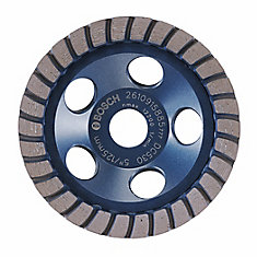 5-inch Turbo Row Diamond Cup Wheel for Finishing