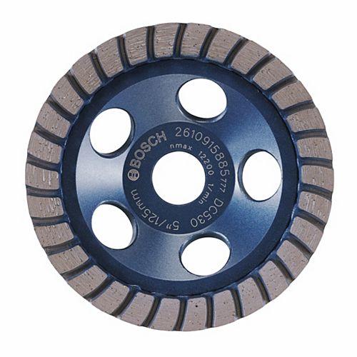 Bosch 5-inch Turbo Row Diamond Cup Wheel for Finishing