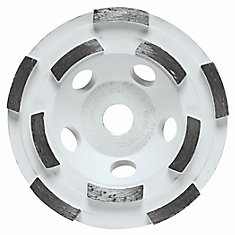 4-inch Double Row Segmented Diamond Cup Wheel