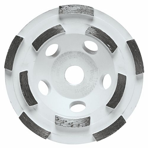 Bosch 4-inch Double Row Segmented Diamond Cup Wheel