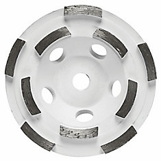4-1/2-inch Double Row Segmented Diamond Cup Wheel