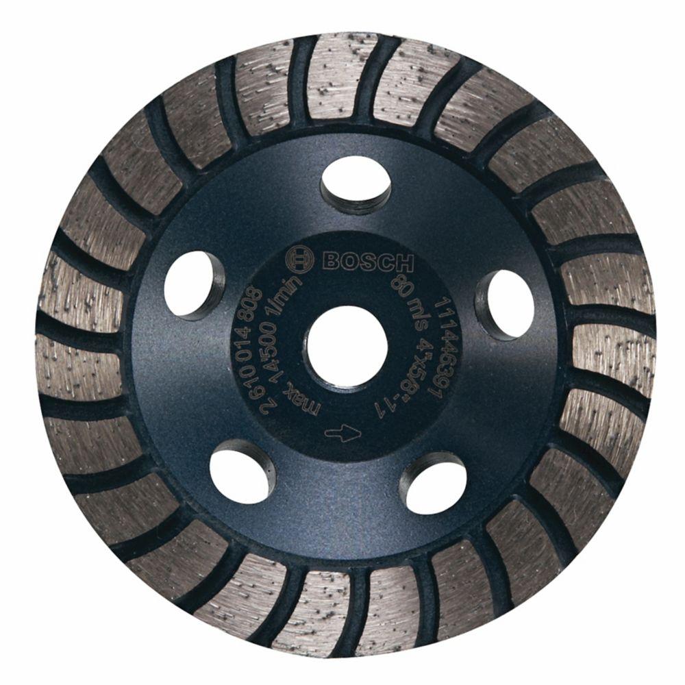 Bosch 4-inch Turbo Row Diamond Cup Wheel