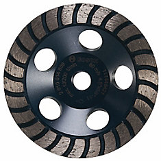 4-1/2-inch Turbo Row Diamond Cup Wheel