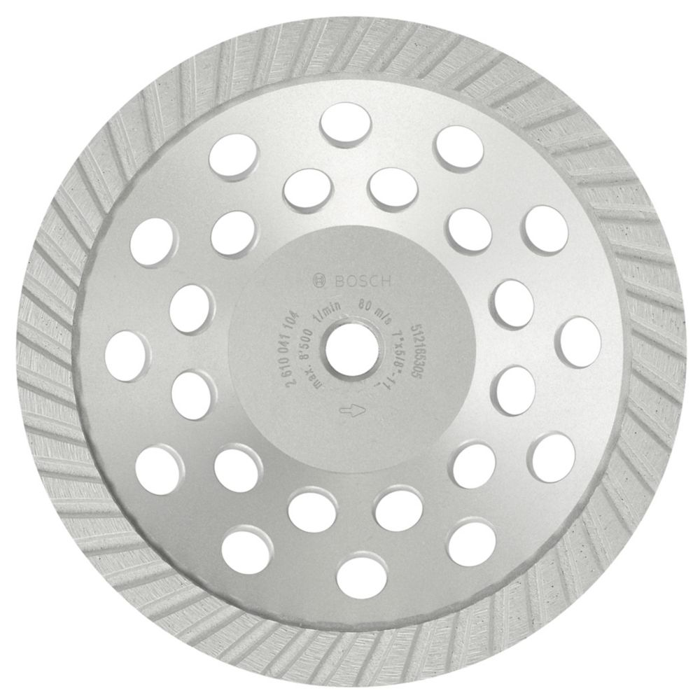 Bosch 7-inch Turbo Diamond Cup Wheel