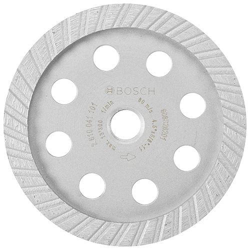 Bosch Meule assiette diamantée turbo de 4-1/2 po