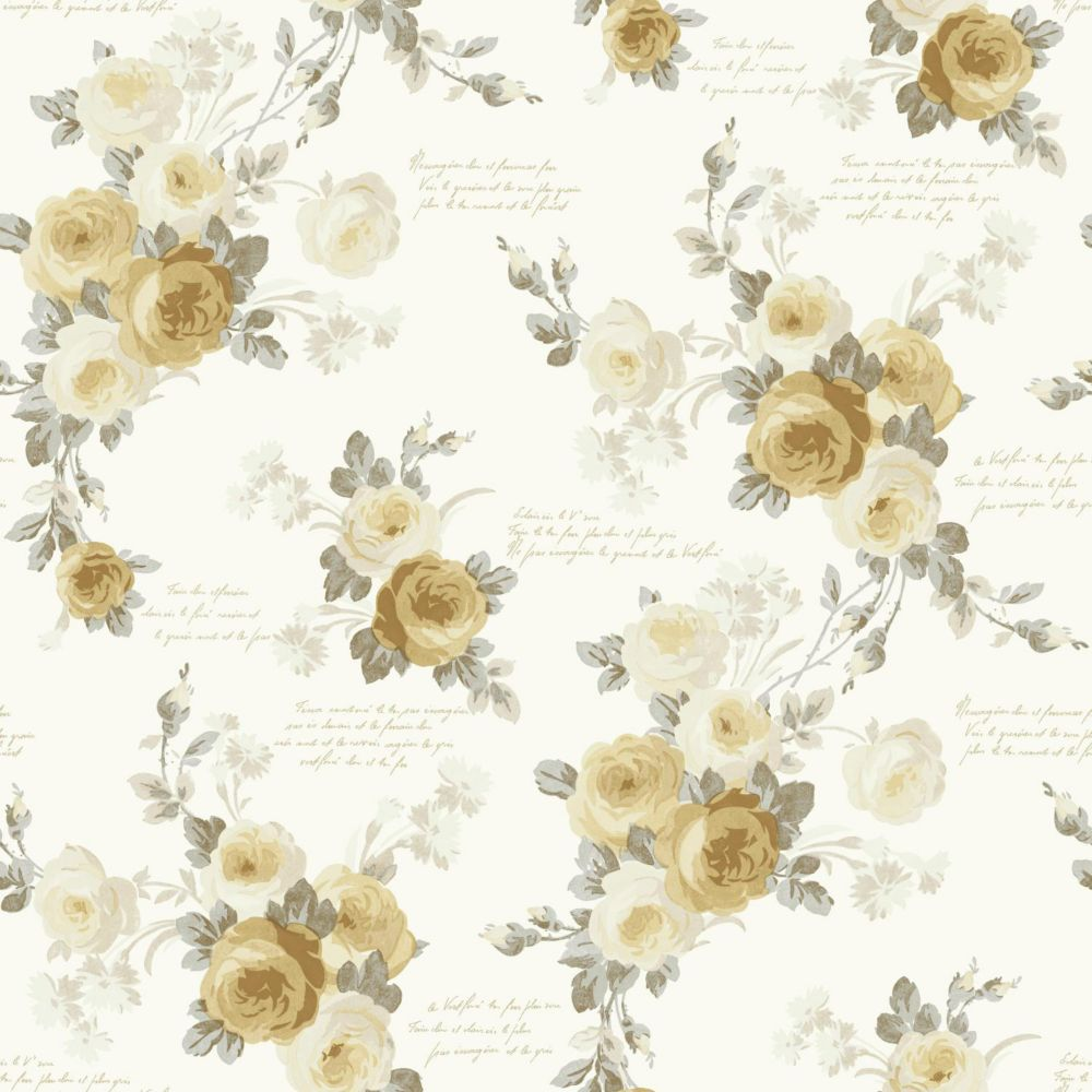joanna gaines magnolia home heirloom rose jaune papier peint amovible home depot canada. Black Bedroom Furniture Sets. Home Design Ideas