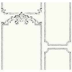 Joanna Gaines Magnolia Home Panneau français - Blanc papier peint amovible