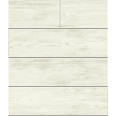 Magnolia Home 56 sq. ft Shiplap Gray Removable Wallpaper