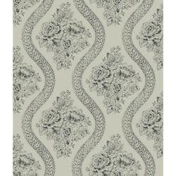 Joanna Gaines Magnolia Home Floral- Noir et Gris  Papier peint amovible