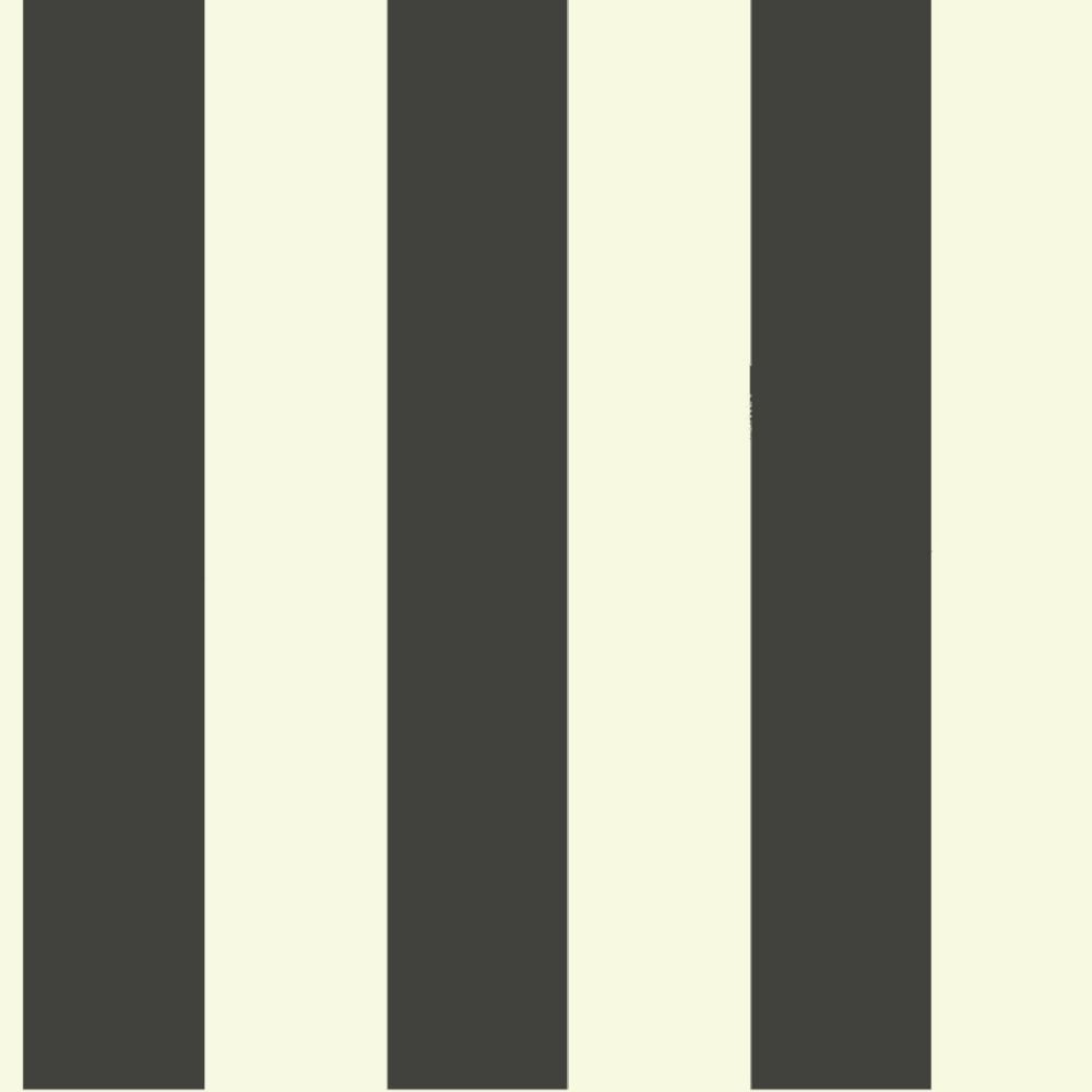 Joanna Gaines Magnolia Home 56 sq. ft Awning Stripe Black Removable Wallpaper