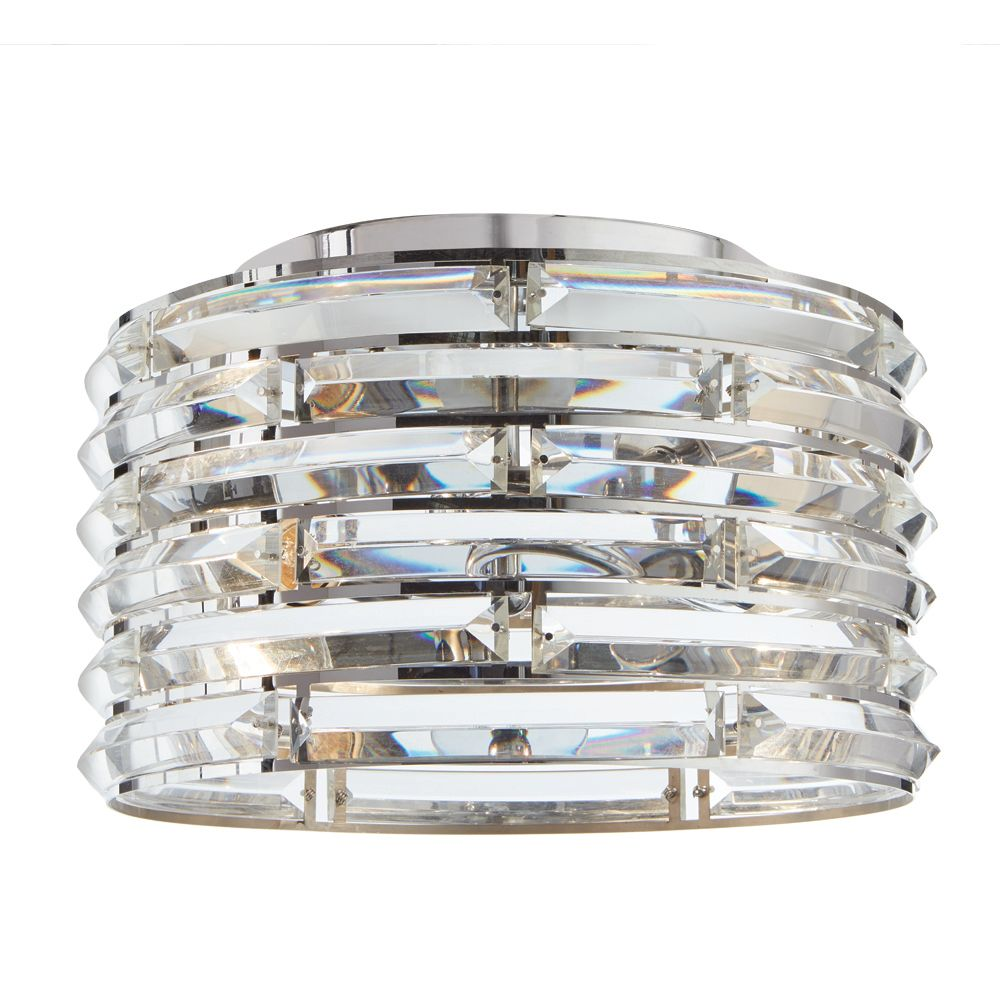 Home Decorators Collection 2-Light Curved Crystal Flush mount