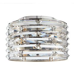 Home Decorators Collection Avant 2-Light Curved Crystal and Chrome Flush Mount