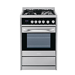 Haier 24-inch 2 cu. ft. Single Oven Duel Fuel Range in Stainless Steel