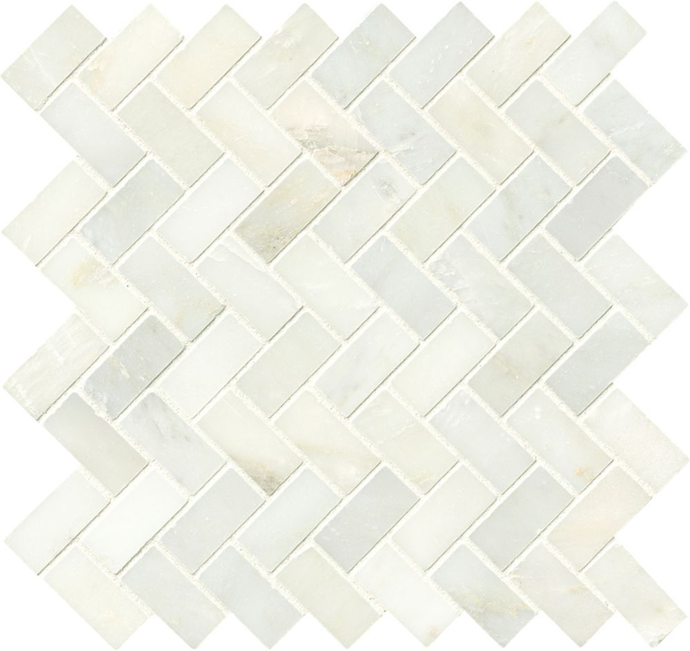 Sassi Polished Random Strip Mosaic Blend Tile In Urban
