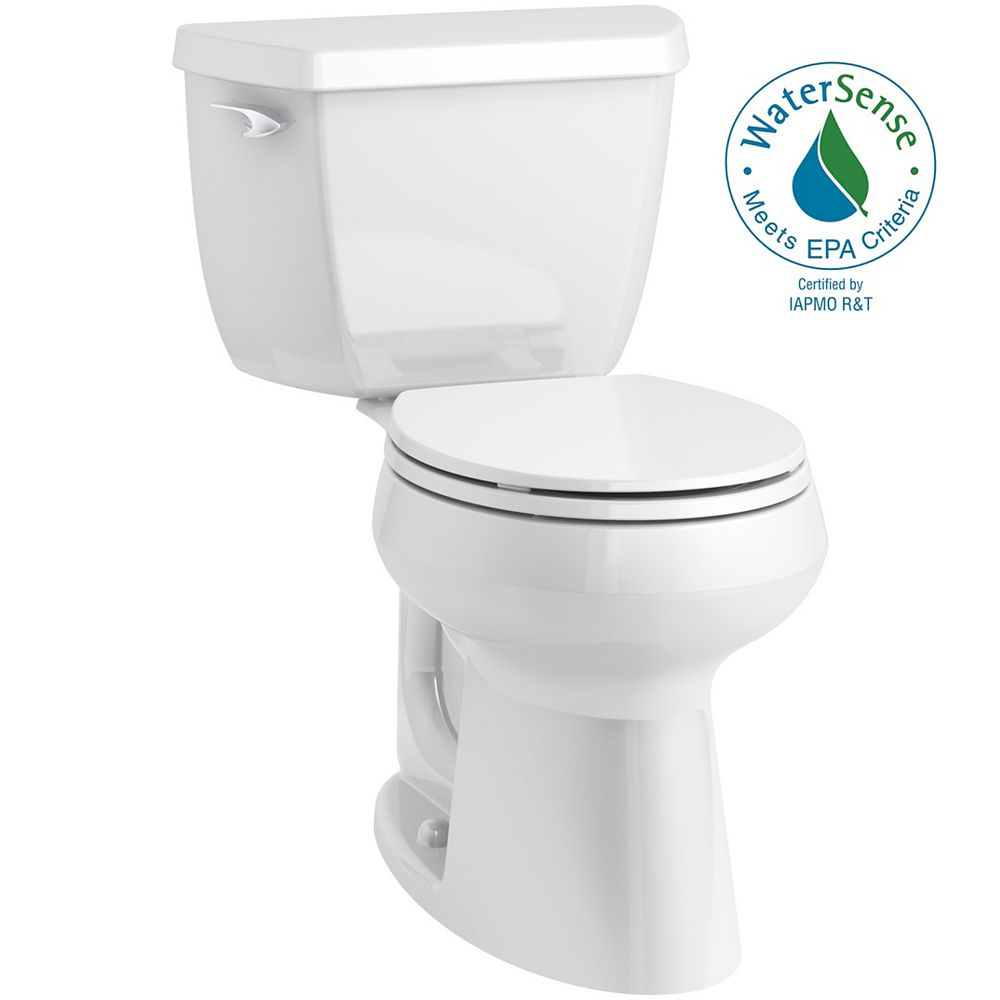 Kohler Highline Classic Complete Solution 1 28 Gpf Comfort Height Round Front Toilet The Home Depot Canada