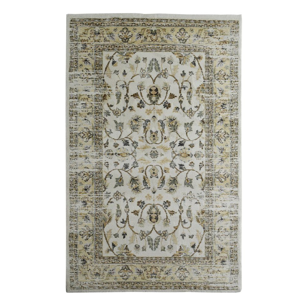 Cozy Cream 5 ft. X 8 ft. Traditional Indoor Area Rug