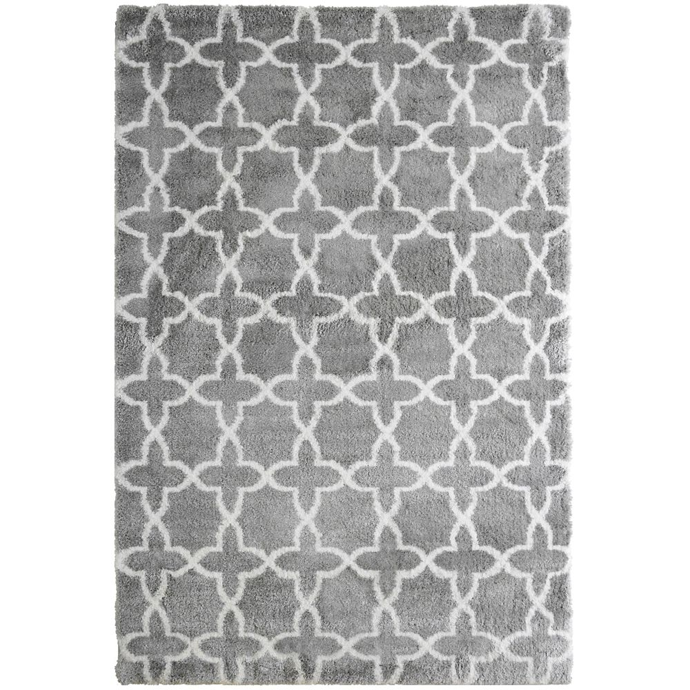 Lanart Morroco Shag Grey 8 ft. x 10 ft. Indoor Area Rug