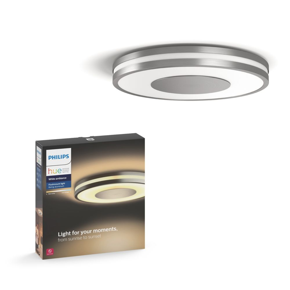 Philips Hue Being Ceiling Lamp Aluminium The Home Depot