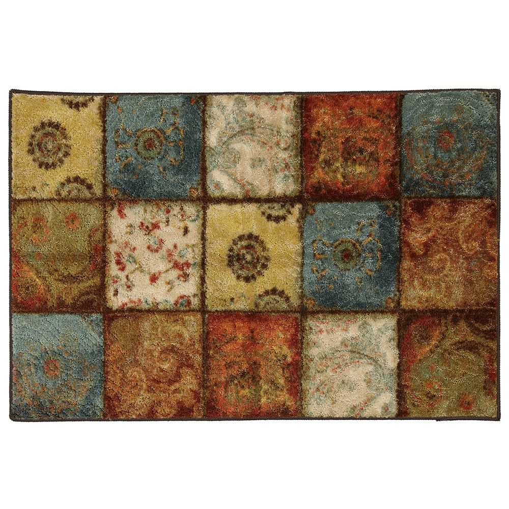 Mohawk Home Artifact Panel Multi 2 ft. 6-inch x 3 ft. 10-inch Area Rug