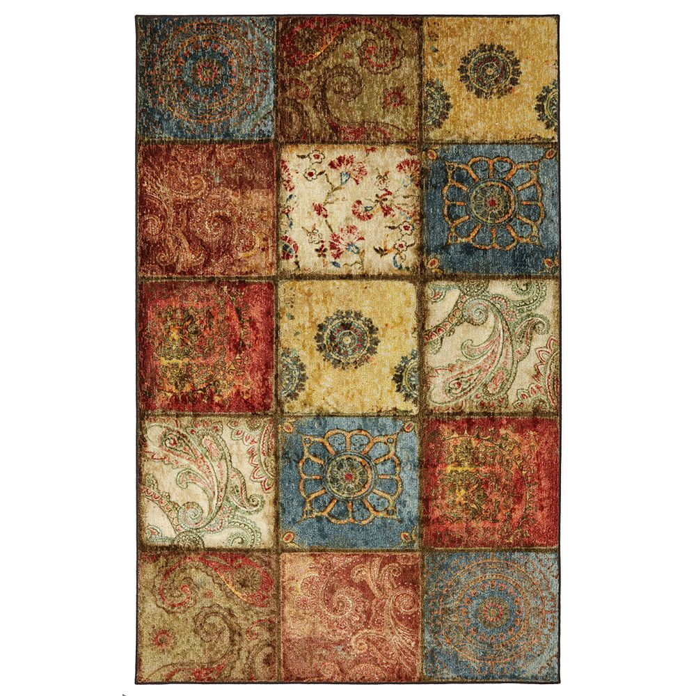 Mohawk Home Tapis Artifact Panel Multi 6 Pi X 9 Pi