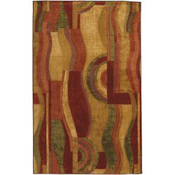 Mohawk Home Picasso Wine Multi 6 ft. x 9 ft. Area Rug