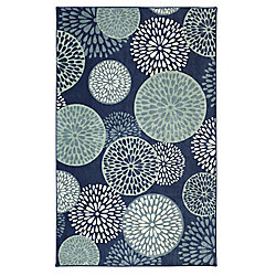 Mohawk Home Foliage Friends Blue 7 ft. 6-inch x 10 ft. Area Rug