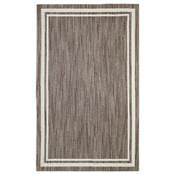 Mohawk Home Border Loop Taupe Cream 5 ft. x 8 ft. Area Rug