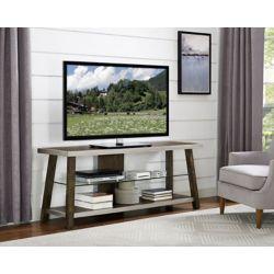 """Brassex Inc. 60"""" TV Stand, Brown"""
