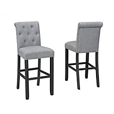 Charming Soho Tufted 29u0027 Bar Stool, Set Of 2, Grey